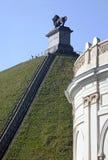 Der Hügel des Löwes, der den Kampf bei Waterloo, Belgien gedenkt stockbild