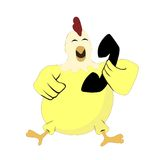 Der Hühneranruf stock abbildung