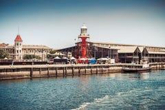 Der Hafen Adelaide Lighthouse Lizenzfreie Stockfotos