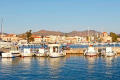 Der Hafen in Aegina, Griechenland Lizenzfreies Stockbild
