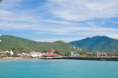 Der Hafen bei Samui Thailand Stockbild