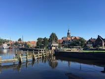 Der Hafen in Blokzijl Lizenzfreies Stockfoto