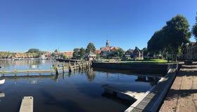 Der Hafen in Blokzijl Stockfoto