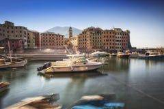 Der Hafen, Camogli, Italiener Riviera, Italien Lizenzfreies Stockfoto