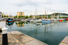 Der Hafen in Cherbourg Stockfoto