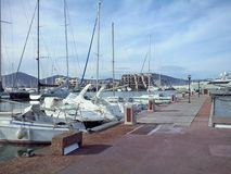 Der Hafen in Marinede Saint Tropez Stockfoto