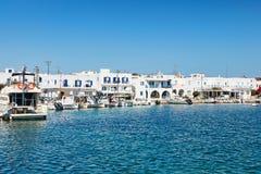 Der Hafen von Antiparos-Insel, Griechenland stockbild