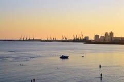 Der Hafen von Durres Stockfoto