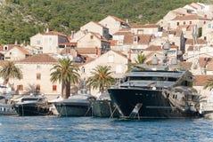 Der Hafen von hvar Lizenzfreies Stockfoto
