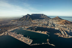 Der Hafen von Kapstadt stockbild