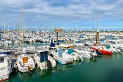 Der Hafen von l'Herbaudière, Frankreich Stockbild