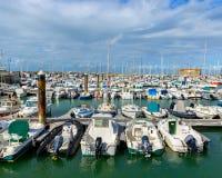Der Hafen von l'Herbaudière, Frankreich Lizenzfreie Stockfotografie