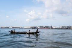 Der Hafen von Lagos Stockbild