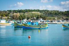 Der Hafen von Marsaxlokk in Malta Lizenzfreies Stockfoto