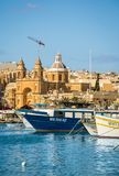 Der Hafen von Marsaxlokk in Malta Stockfotografie