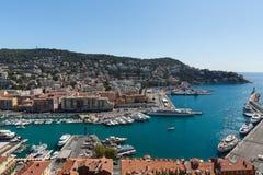 Der Hafen von Nizza in Frankreich Stockbild