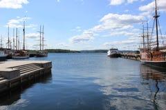 Der Hafen von Oslo lizenzfreies stockbild