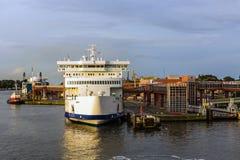 Der Hafen von Swinoujscie Lizenzfreies Stockbild