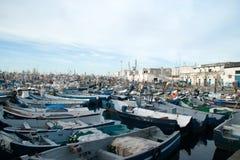 der Hafen von Tanger Stockbilder