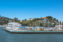 Der Hafen von Tiburon, Kalifornien stockbild