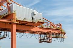 Der Hafenkran Stockbilder
