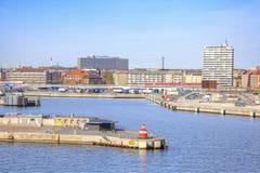 In der Hafenstadt von Kopenhagen Stockbilder