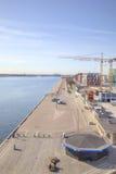 In der Hafenstadt von Kopenhagen Stockfotos