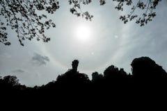 Der Halo sagen im Yuanjiajie Guten Tag lizenzfreie stockfotografie