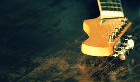 Der Hals der Gitarre Lizenzfreies Stockbild