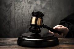 Der Hammer des Richters Lizenzfreie Stockfotos