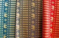 Thailändische Silk Gewebe Stockbild