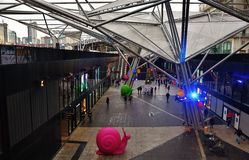 Der Hauptbahnhof in Neapel Lizenzfreies Stockfoto