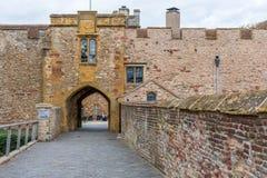 Der Haupteingang des Schlosses Stockbild