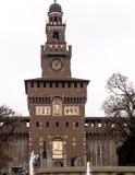 Der Haupteingang zum Castello Sforzesco, Mailand Lizenzfreie Stockbilder