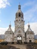 Der Haupteingang zum Kloster Desyatinny Stockbild