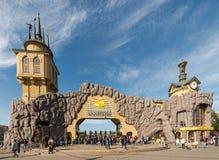 Der Haupteingang zum Moskau-Zoo Stockfotografie