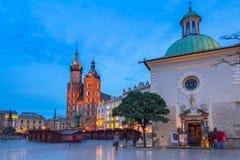 Der Hauptplatz der alten Stadt in Krakau Lizenzfreie Stockfotografie