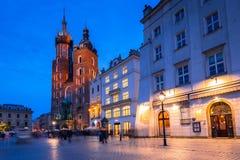 Der Hauptplatz der alten Stadt in Krakau Lizenzfreies Stockbild
