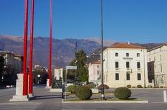 Der Hauptplatz von Vittorio Veneto Lizenzfreies Stockfoto