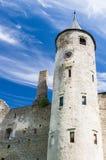 Der Hauptturm des episkopalen Schlosses in Haapsalu Lizenzfreie Stockfotografie