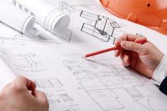 Der Hausplan Lizenzfreie Stockbilder