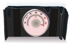 Der heiße Thermometer Stockbilder