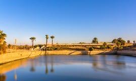 Der heilige See im Bezirk von Amun-Re - Luxor Lizenzfreies Stockfoto