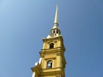 Der Helm des Peter und des Paul Cathedrals, St Petersburg Stockbild