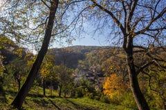 Der Herbst in Fruska Gora Stockfotografie