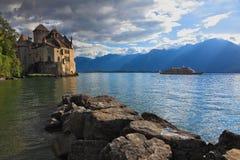 Der Herbst in Montreux Stockfotos
