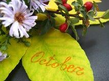 Der Herbstblumenstrauß Lizenzfreies Stockfoto