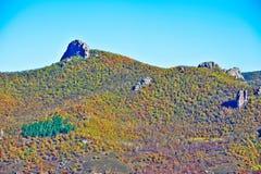 Der Herbstwaldhügel Lizenzfreies Stockbild