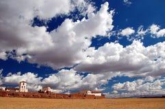 Der Himmel über Chinchero Stockbild