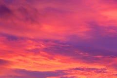 Der Himmel brennt Stockfotografie